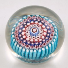 A Magnum H G Richardson & Sons  Concentric Paperweight c1900