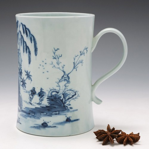Tall Richard Chaffers Liverpool Porcelain Tankard c1760