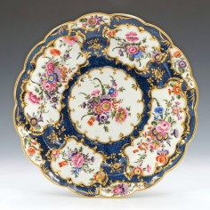 Worcester Porcelain Blue Scale Junket Dish c1770