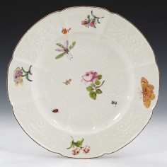 """Chelsea Red Anchor Period """"Gotzkowsky"""" Soup Plate c1755"""