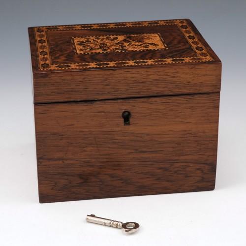 A Tunbridge Ware Box c1880