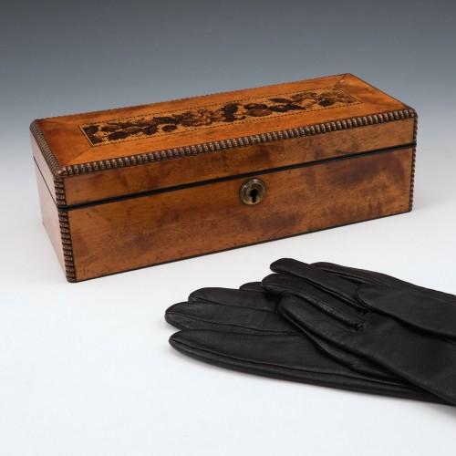 Tunbridge Ware Glove Box c1890