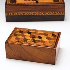 Tunbridge Ware Trinket Box c1870