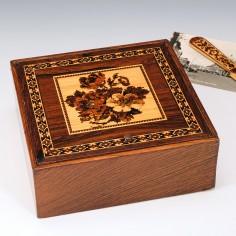 Tunbridge Ware Handkerchief Box c1905