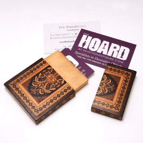 Tunbridge Ware Business Card case c1870
