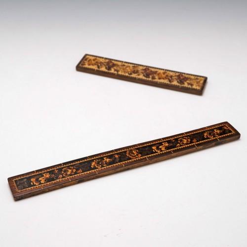 Tunbridge Ware 9 Inch Ruler c1870