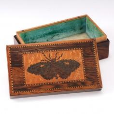 Tunbridge Ware Lidded Trinket Box c1840