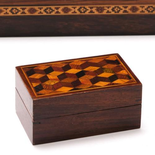 Tunbridge Ware 'Perspective Cube' Parquetry Box