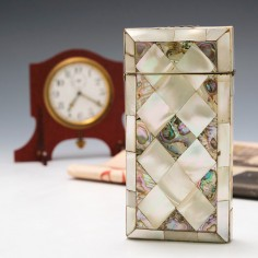 Mother and Pearl and Abalone Cigar Case c1880