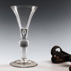 Georgian Kit-Cat Wine Glass c1750