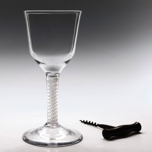 Double Series Opaque Twist Wine Goblet c1760