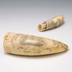 Mid 19th Century American Scrimshaw Whales Tooth