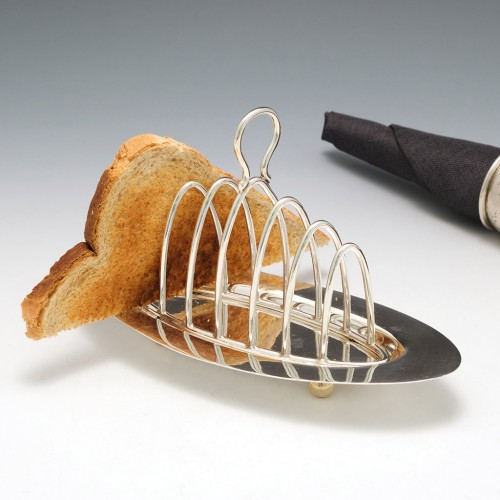 Sterling Silver Six Division Toast Rack Birmingham 1886