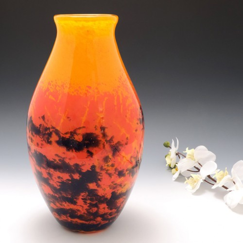 Very Large Verrerie D'Art Degue Vase c1930