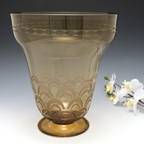 A Tall Daum Nancy Art Deco Glass  Vase c1930