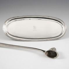 Sterling Silver Snuffer Or Pen Tray  London 1802