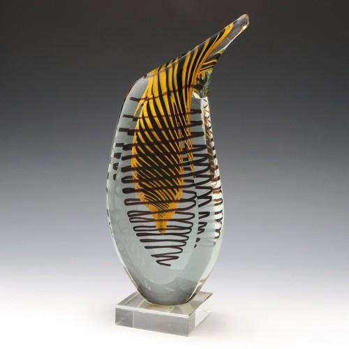 A Czech Art Glass Penguin Sculpture