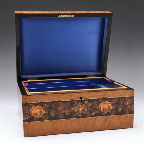 A Very Fine Tunbridge Ware Jewellery Box c1870