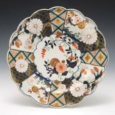 Chelsea Porcelain Brocade Imari Plate c1755