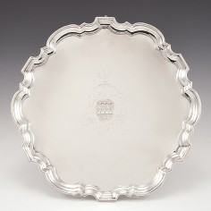 A George II Sterling Silver Salver London 1732