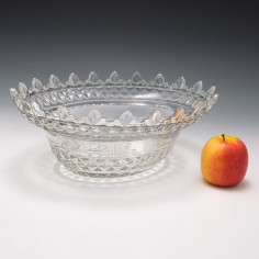 Large Irish Glass Bowl c1800