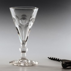 Victorian Tuppenny Gin Glass c1860