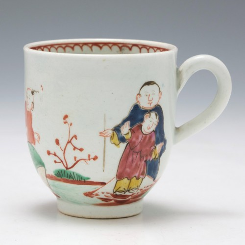 John or Seth Pennington Drunken Family Coffee Cup c1785