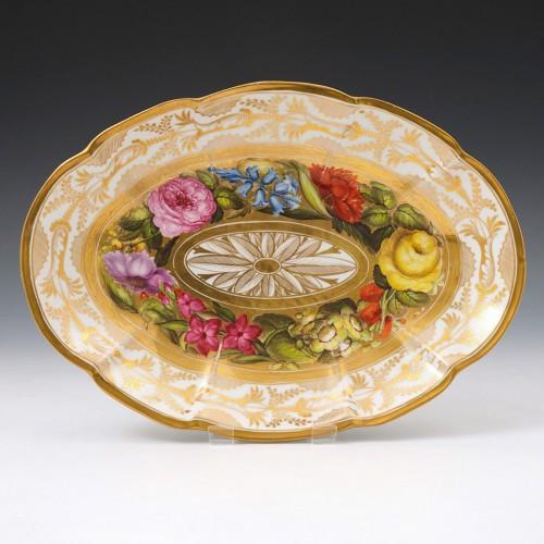 Coalport Porcelain Oval Serving Dish C1810