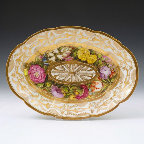 Coalport Porcelain Oval Serving Dish c.1810