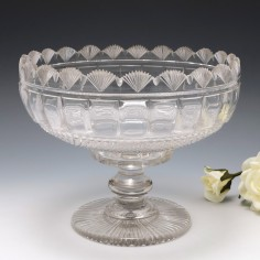 Anglo Irish Cut Glass Bowl c1825