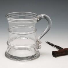 Liverpool Interest  Georgian Half Pint Glass Tankard c1800