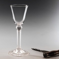 A Balustroid Stem Georgian  Style Wine Glass