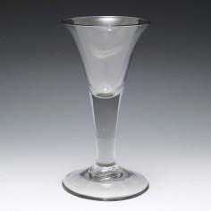 A Plain Stem Georgian Glass Goblet c1750