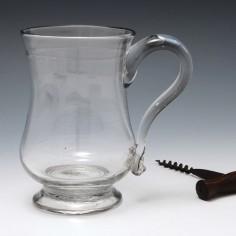 Georgian Lynn Glass Tankard c1780