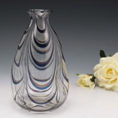 Rare Thomas Webb Filamentosa Dimples Vase c1880