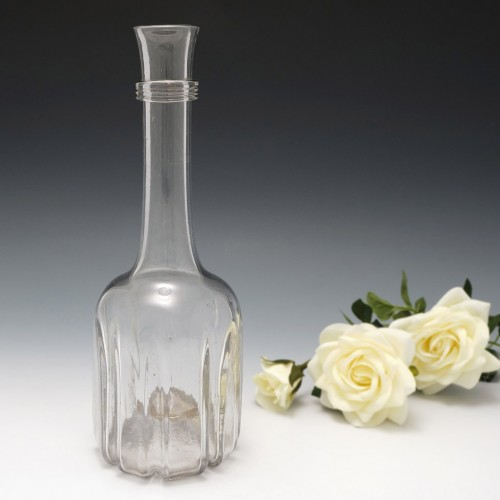 A Very Tall Modified Cruciform Decanter Bottle c1740