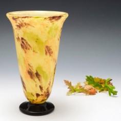 A Schneider Verre Francais Vase c1925
