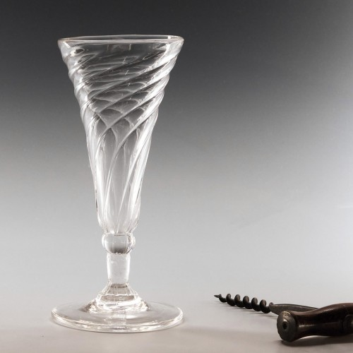 Georgian Somerset Moulded Ale Glass c1780