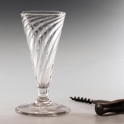 Georgian Somerset Wrythen Ale Glass c1780
