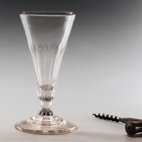 Petal Moulded Georgian Ale Glass c1770
