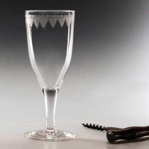 An Engraved Georgian Ale Glass c1800