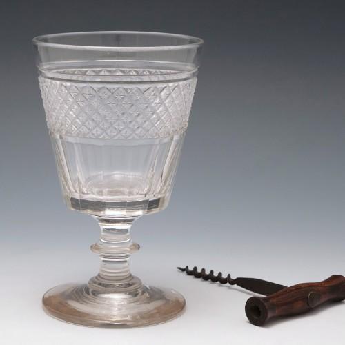 An Anglo Irish Cut Glass Rummer c1820