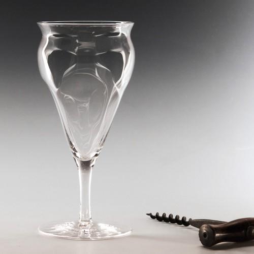 Whitefriars 'Poppy Head' Wine Glass c1900