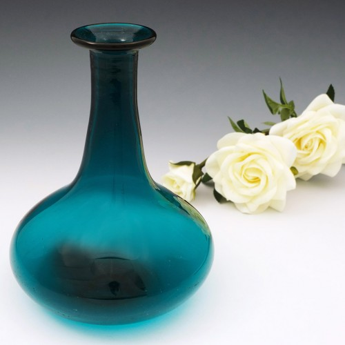 A Peacock Blue Mell Decanter c1840