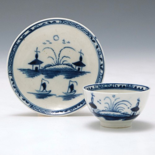 Caughley Porcelain Toy Tea Bowl and Saucer c1790