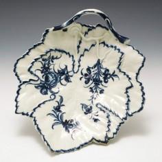 A First Period Worcester Leaf Dish 1765-70