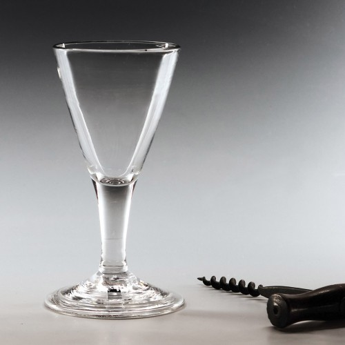 Georgian Dram Or Gin Glass c1750