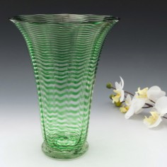 A Stevens and Williams Threaded Vase c1930