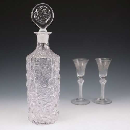 A Whitefriars Textured Decanter c1970