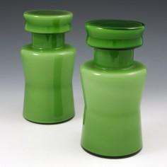 A Pair of Vistosi Incamiciato Apothocary Jars c1950